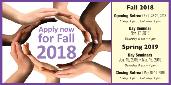 Apply now for the Fall 2018 Koinonia School.