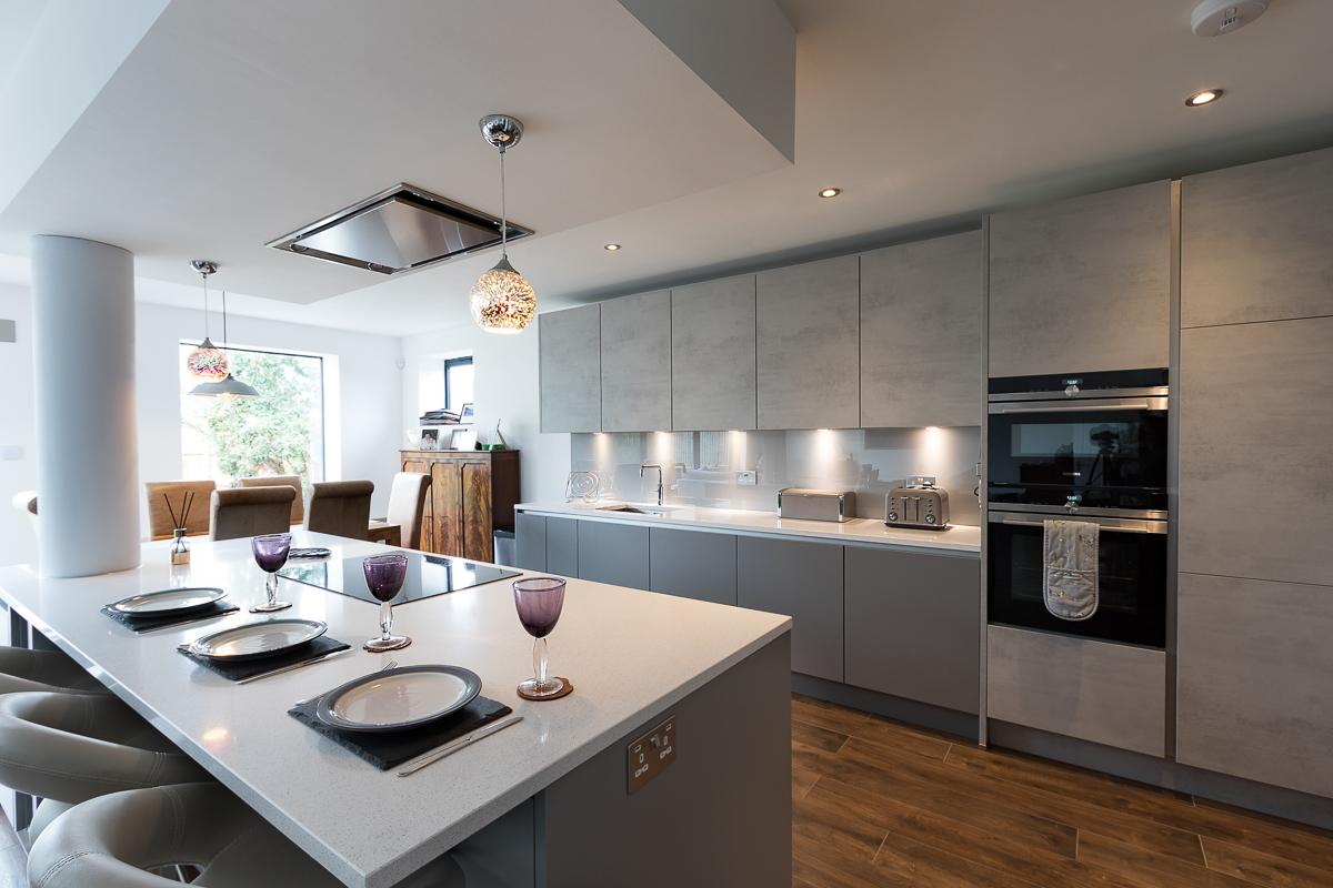 Kitchen Splashback Grey White