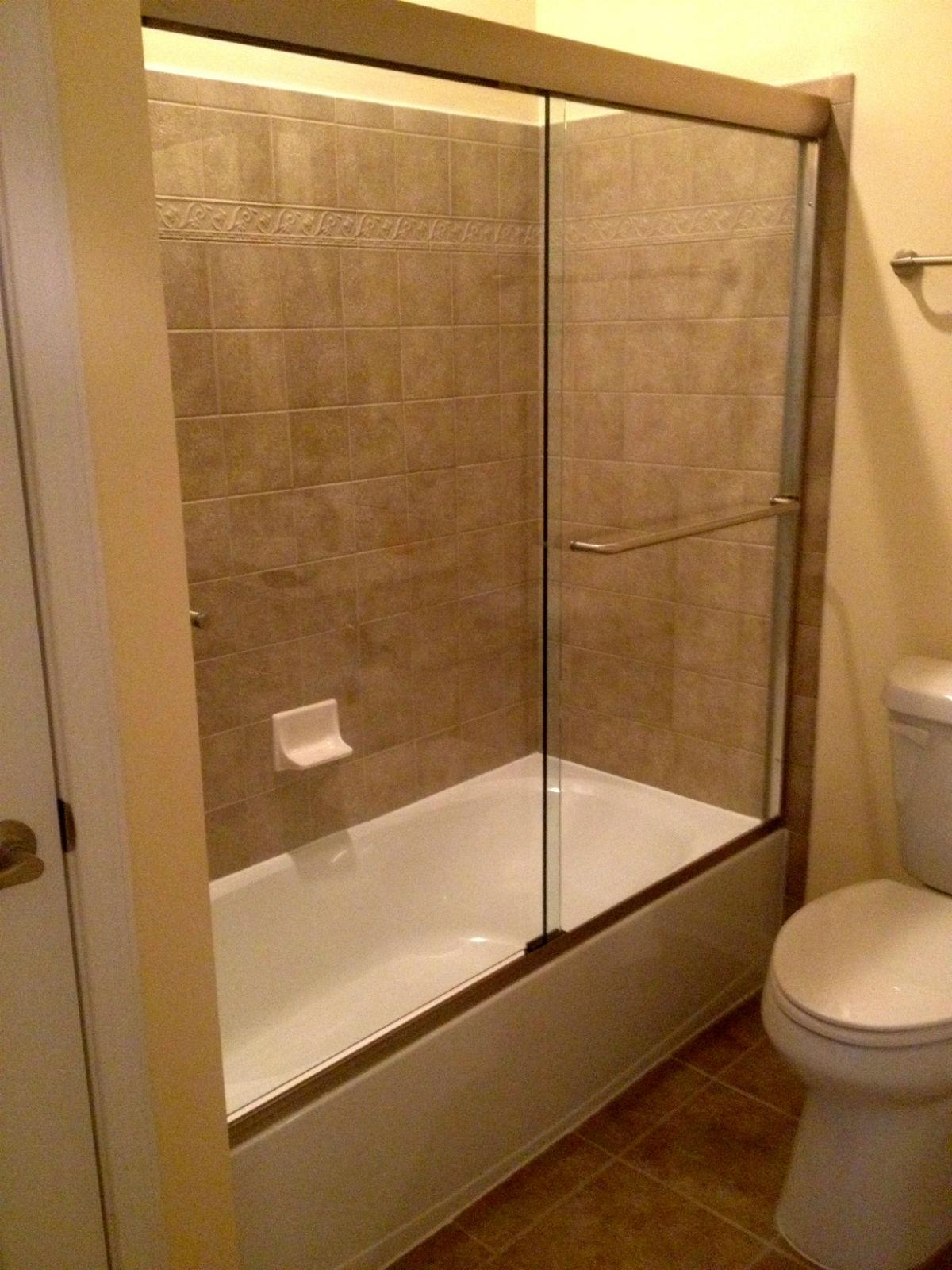 Midlothian Semi Frameless Sliding Glass Bathtub Enclosure