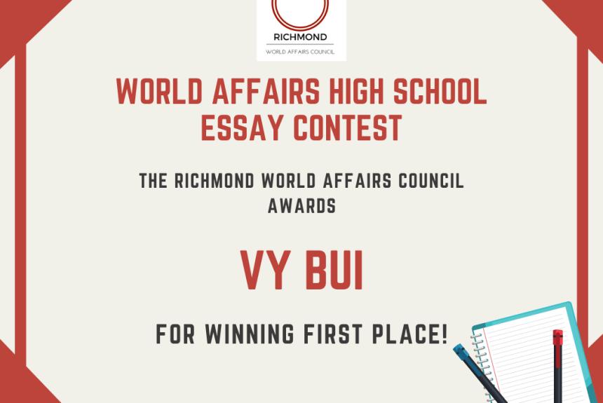 2019 Essay Contest Winner