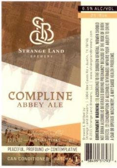 Strange Land - Compline