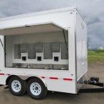 EIGHT STATION HAND WASH TRAILER RICH SPECIALTY TRAILERS