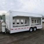16 station hand washing trailer exterior