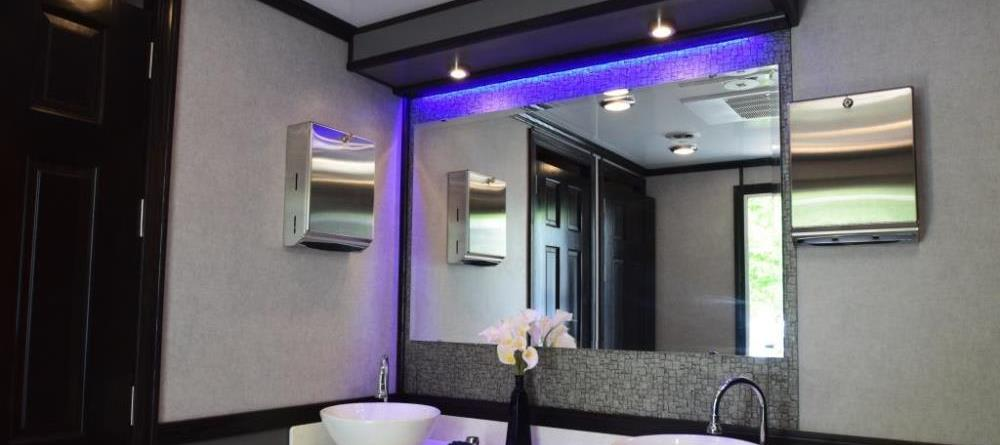 luxury portable restroom trailers