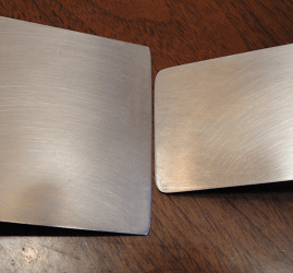 stainless steel spatula edges and rounded corners