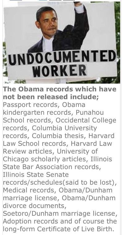 Obama, Undocumented worker