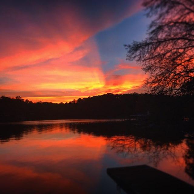 Beautiful Lake Jordan Sunset