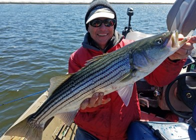 """Steve's best hit a 7"""" Ice Shad Fin-S Fish on top"""