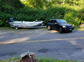 I was concerned as to whether I'd be able to do a U-turn in front of the house with the longer, wider rig, to position the boat to back up my driveway.
