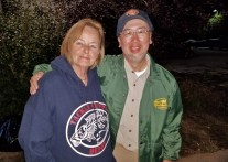 That evening, he got to meet Sandy Oja, with whom he's been doing business for 30 years!