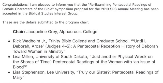 Re-Examining Pentecostal Readings of Female Characters in