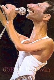 Freddie Mercury caricature