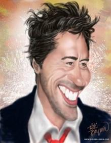 Robert Downey Jr Caricature by Rick Baldwin