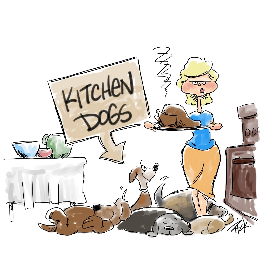 kitchen dogs