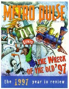 Metro Pulse cover train wreck by Rick Bldwin