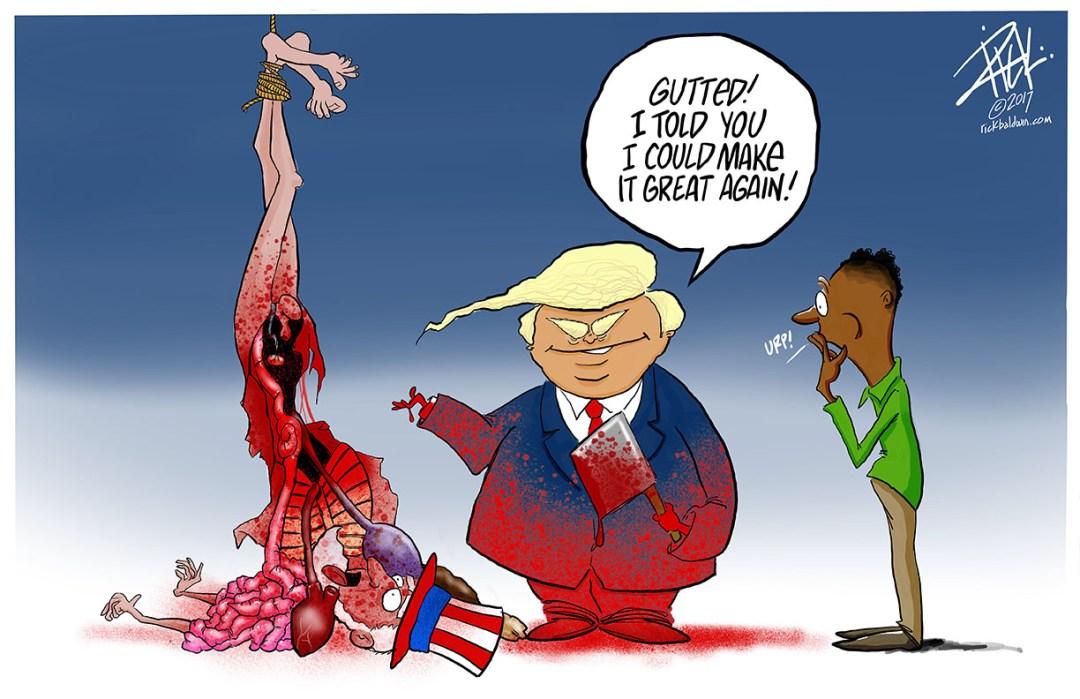 editorial cartoon Gutted by Rick Baldwin