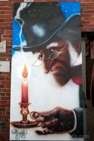 The Scrooge mural
