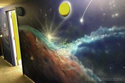 Space Mural by Rick Baldwin
