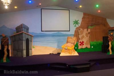 Treasure Island Mural Stage Backdrop