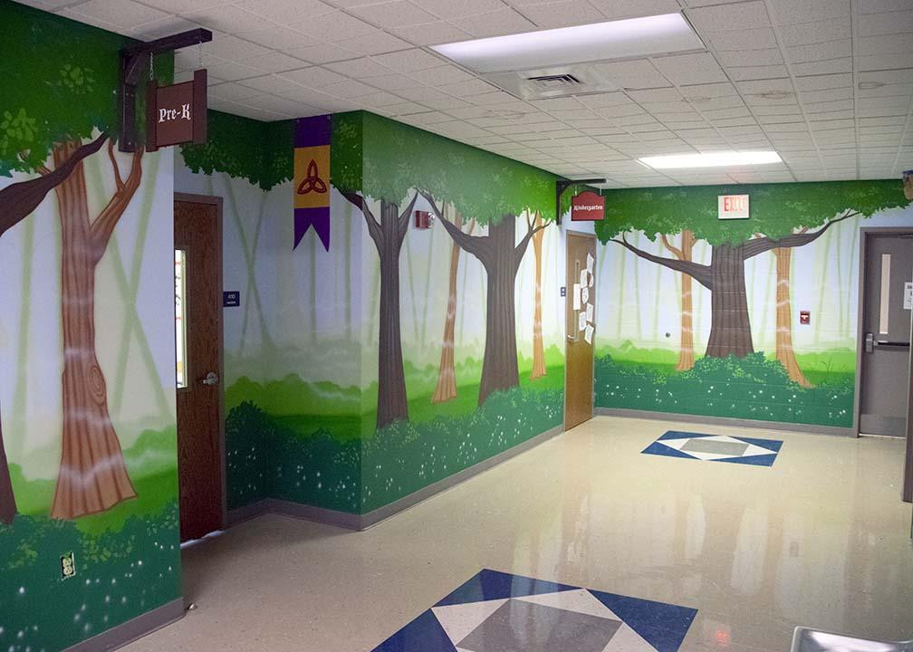 Forest Mural by Atlanta Mural Artist Rick Baldwin