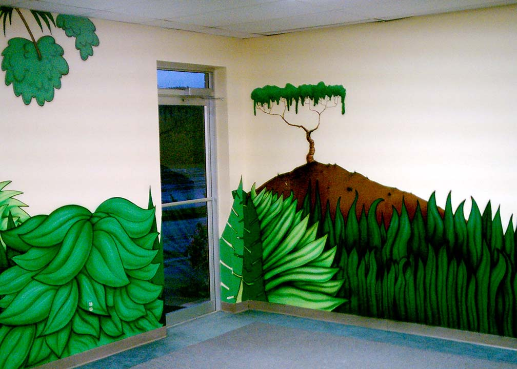 Kids Jungle Mural by Atlanta Muralist Rick Baldwin