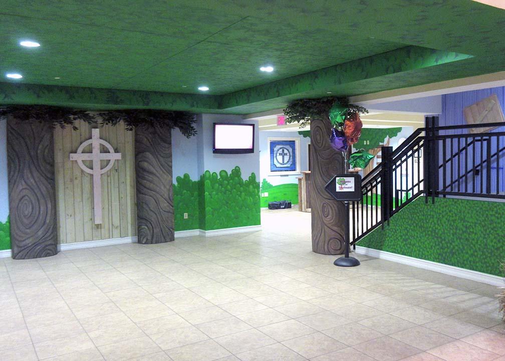 Church Lobby Mural by Atlanta Muralist Rick Baldwin