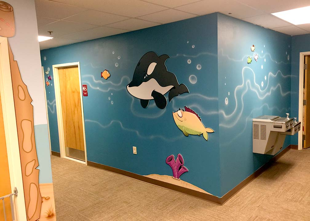 Aquatic Mural by Atlanta Muralist Rick Baldwin