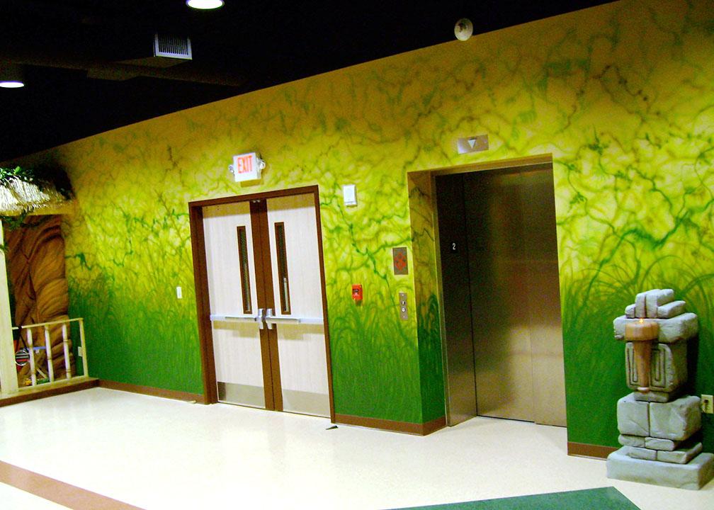 Jungle Mural by Atlanta Muralist Rick Baldwin