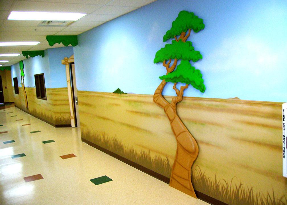 Safari Mural by Atlanta Mural Artist Rick Baldwin