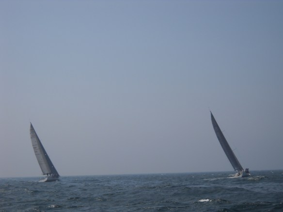 Racing Sailboats in Rhode Island Sound