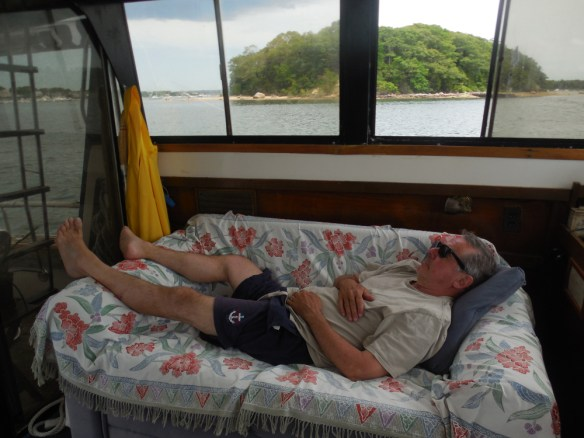 Caught napping. Wickets island in the background.