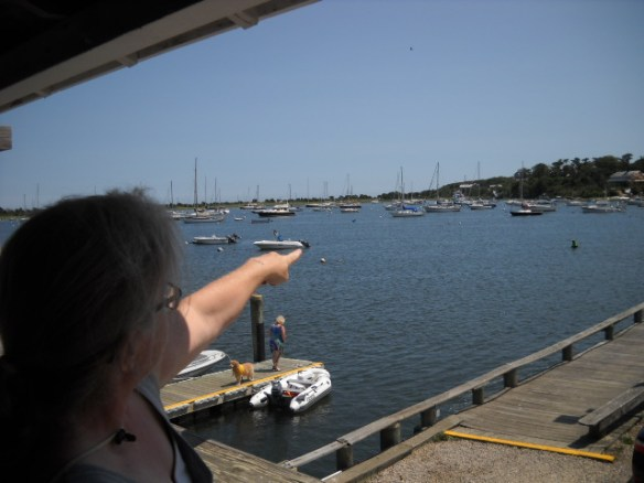Stage Harbor as viewed from the Harbormasters balcony.