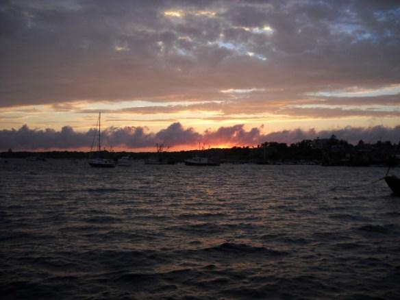 Stage Harbor sunset.