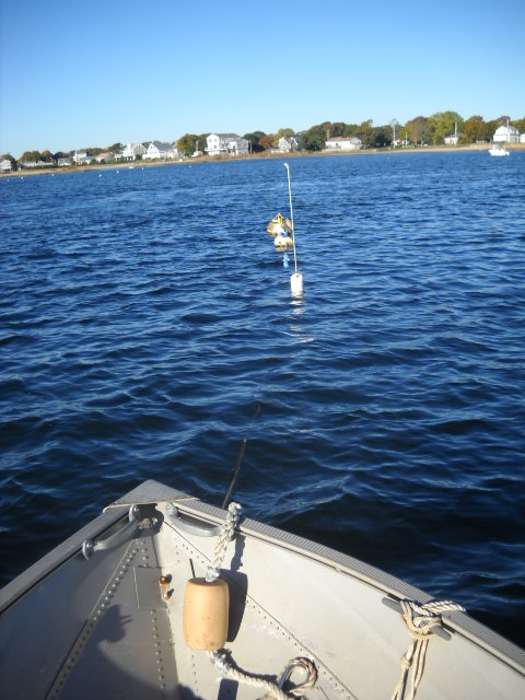 Salty II left on the mooring.