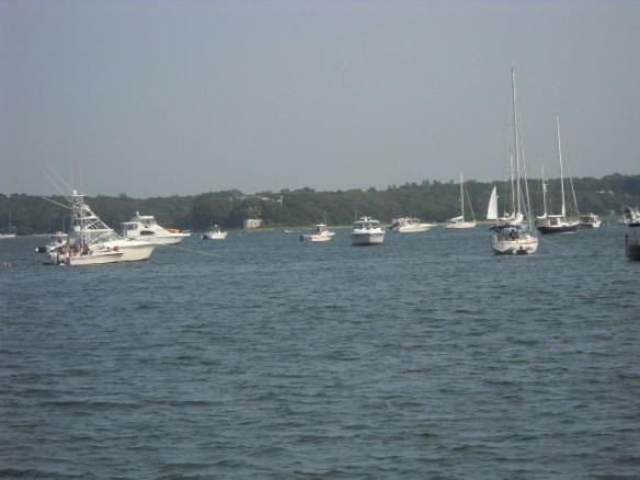 Happy anchored boats.
