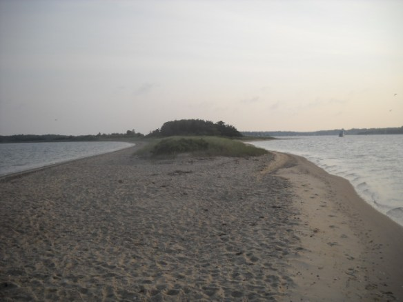 The southern tip of Bassets Island.