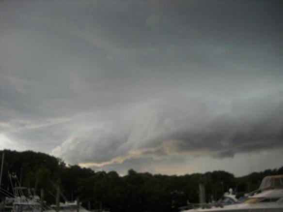 Rumbling sky.