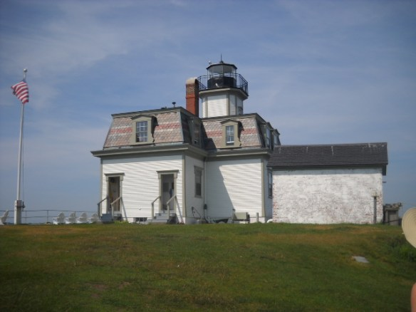 The Rose Island Lighthouse.