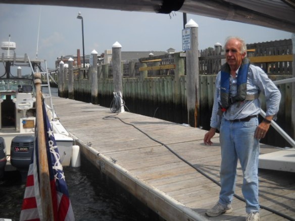 At the pump-out dock, this gent helped us dock.