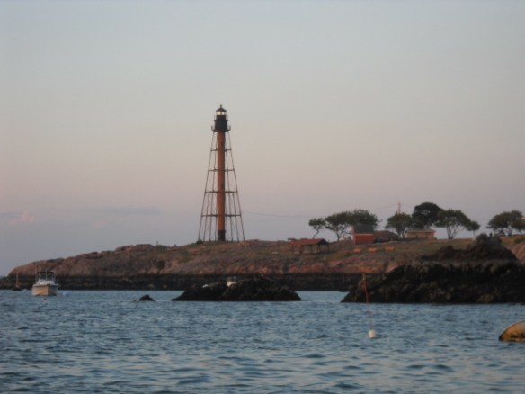 The familiar and unusual light that guards the harbor.