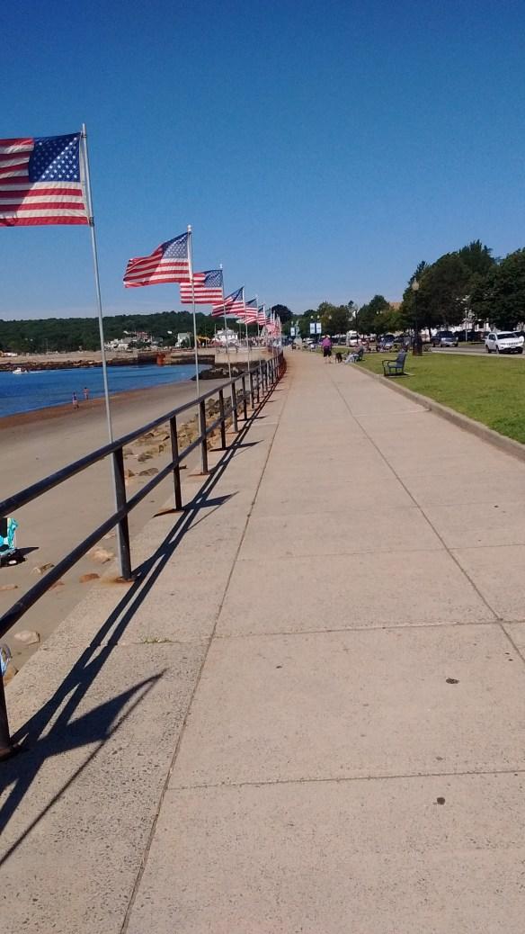 Wobbly walk along the beach.