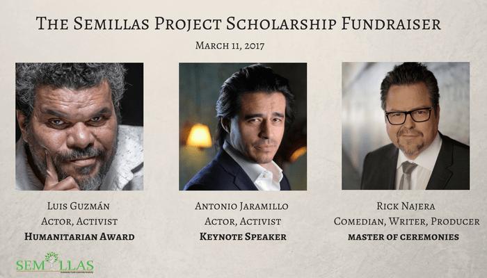Actors Luis Guzman, Antonio Jaramillo and Rick Najera Initiate 1st Annual Semillas Project