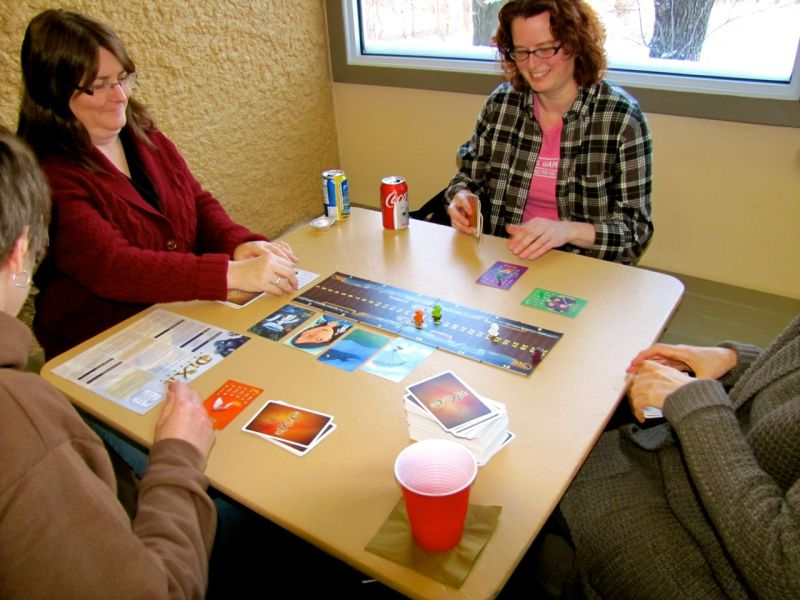 The adults took their game of Dixit a little more seriously. Just a little more, though.