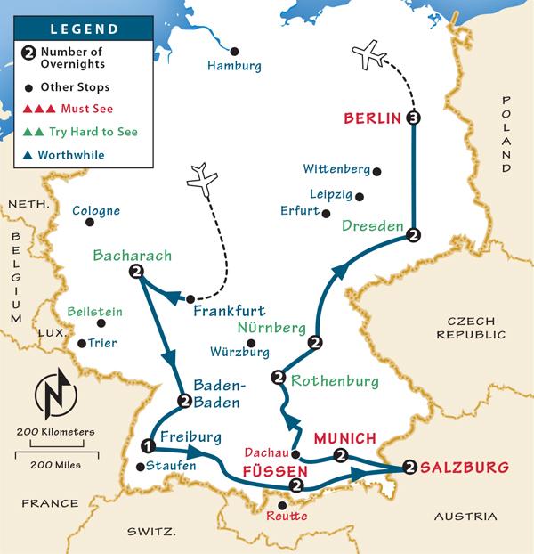 Germany Itinerary Nuremberg Holidays - Germany map nurnberg