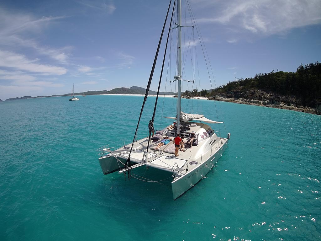 Luxury Yacht Cruise Hamilton Is Whitehaven Beach