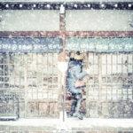 雪降る古い町並みー岐阜県高山市ー