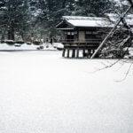 雪景色の兼六園-石川県金沢市-