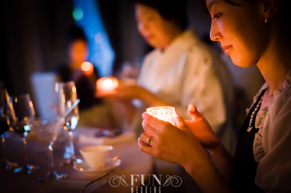 ANAインターコンチネンタルホテル東京 キャンドルサービス 披露宴