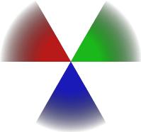 Círculo con colores en degrade