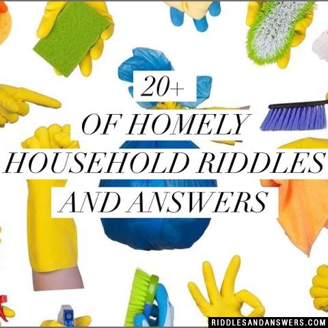 30+ Household Riddles And Answers To Solve 2019 - Puzzles ...